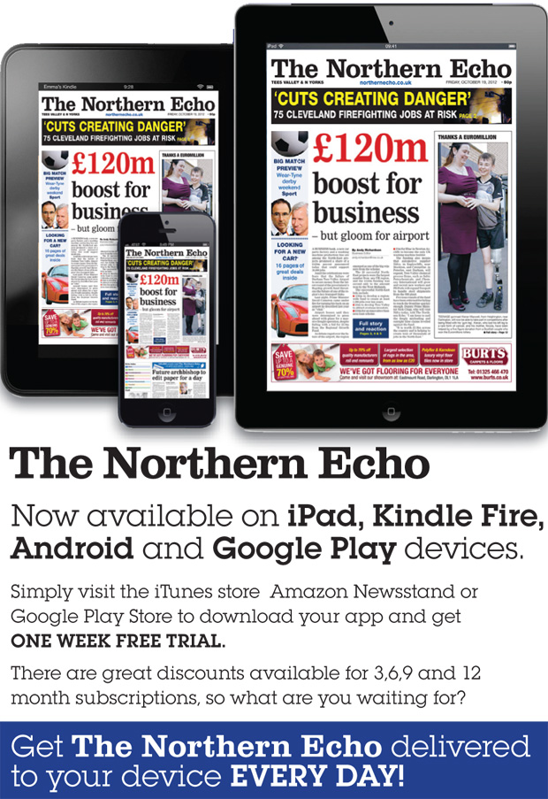 The Northern Echo is now available on iPad, Kindle Fire, Android and Google Play devices