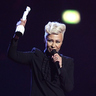 Emeli Sande collects the Best British Female award on stage during the 2013 Brit Awards at the O2 Arena