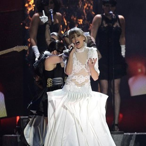 Taylor Swift performed We Are Never Ever Getting Back Together at the Brits