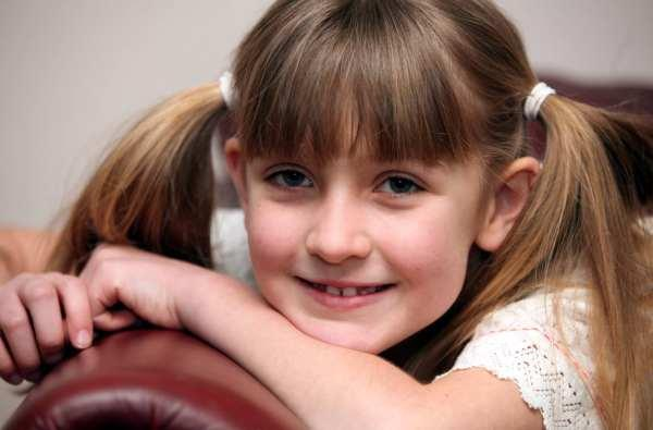Abbie Bayes, eight, from Durham