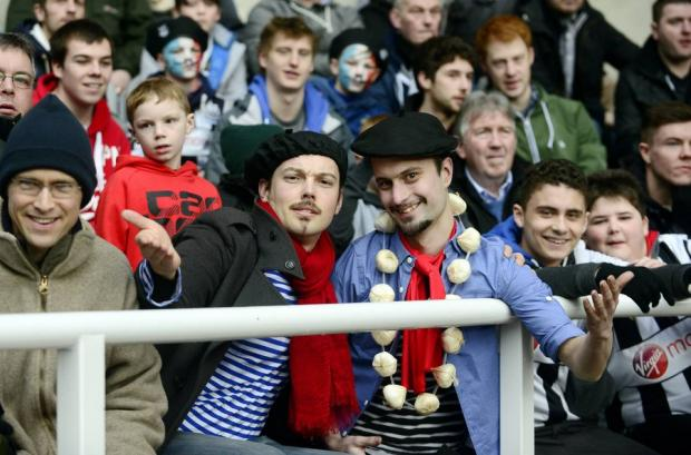 The Northern Echo: Newcastle fans get into the Gaelic spirit as