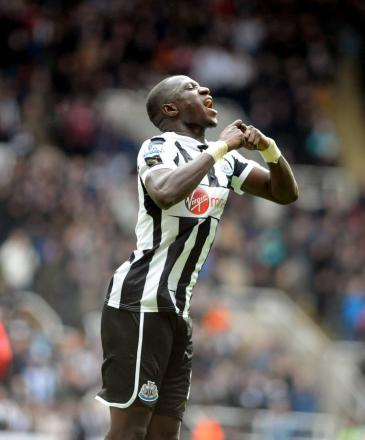EQUALISER: Moussa Sissoko celebrates after firing Newcastle United level during their 4-2 win over Southampton