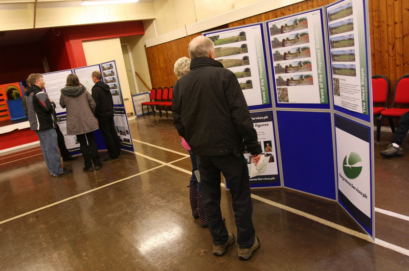 PLANS ON SHOW: People view the exhibition hosted by Hargreaves in Pittington village hall
