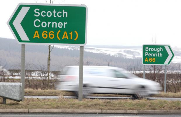 SCHEME FAILED: The A66-B6274 junction, in North Yorkshire and County Durham – there are plans for safety improvements to such junctions along the A66. Below, some of the other junctions