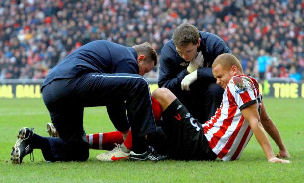 OUT OF ACTION: Sunderland will not be rushing defender Wes Brown back into action after he suffered a knee injury in the FA Cup tie with Middlesbrough last January