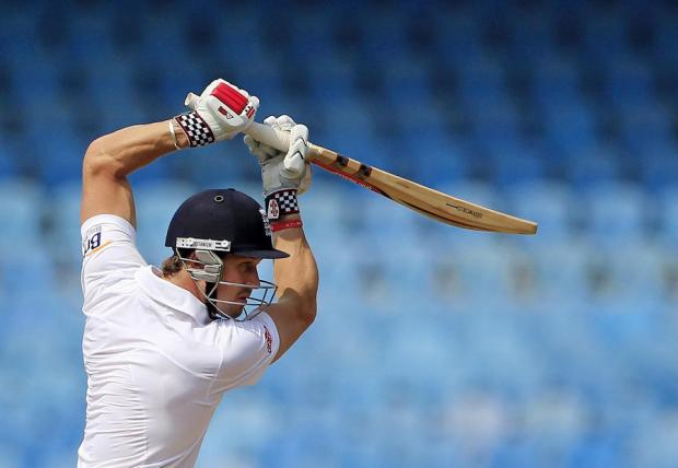 COMPETITION: Nick Compton, pictured, will battle it out with Yorkshire's Joe Root for the right to open the batting for England