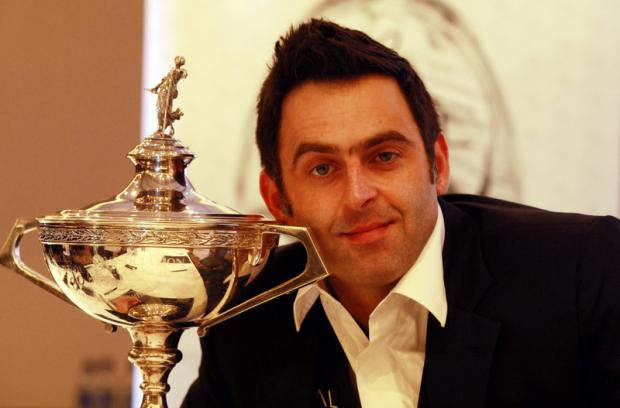 HE'S BACK: Ronnie O'Sullivan during a press conference yesterday to announce his return to the sport