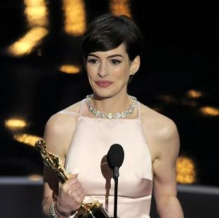 Anne Hathaway says she focuses on the positive