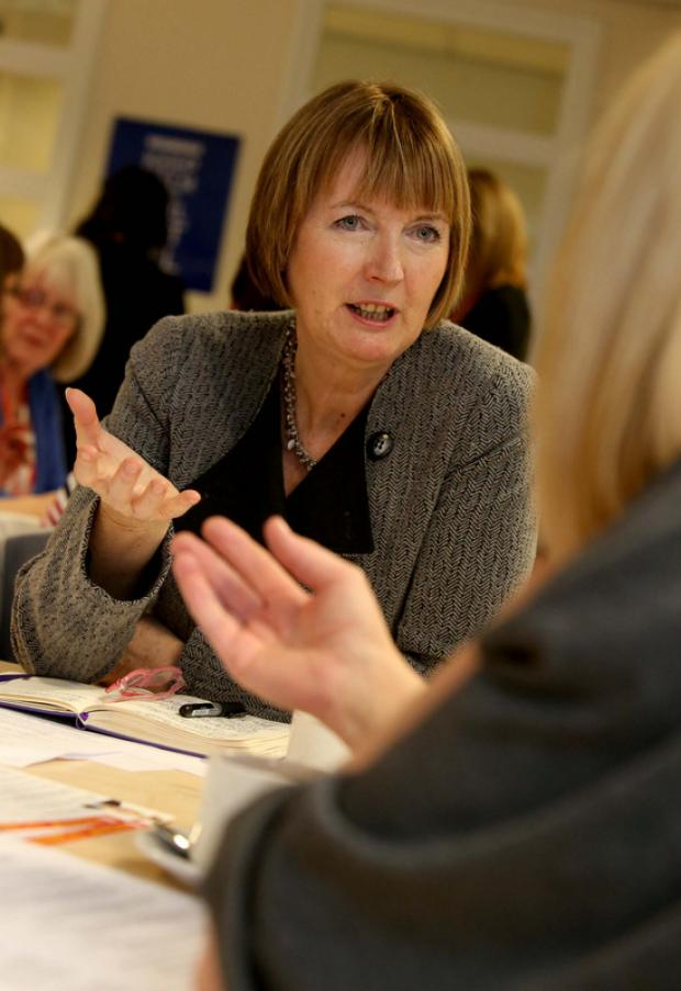 DIFFERENT LIVES: Harriet Harman at the event