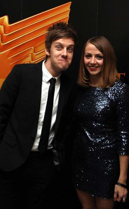 TV AWARDS: 'Hebburn' star Chris Ramsey with Lisa McGrillis