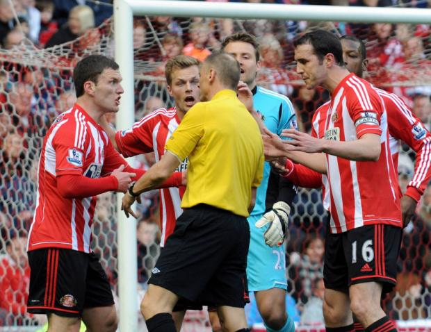 APPEAL DENIED: Mark Halsey refused Sunderland a late penalty against Fulham