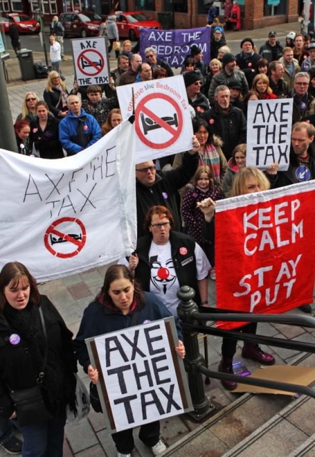 BEDDROOM PROTEST: Axe the Bedroom Tax protest in Darlington