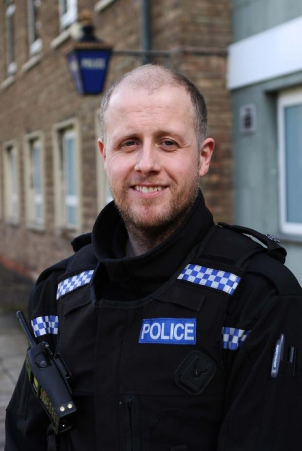 HUMANE AWARD: PC Michael Banks from Bishop Auckland