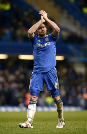 EARNED PLAUDITS: Chelsea midfielder Frank Lampard