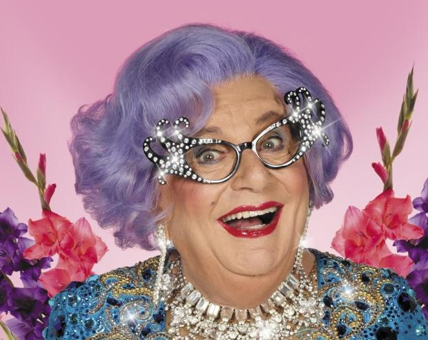 Dame Edna heads for North-East
