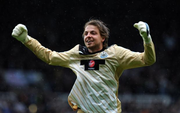 HAPPY MAN: Tim Krul is pleased to have the spine of Newcastle United's side available for the final two-and-a-half months of the season