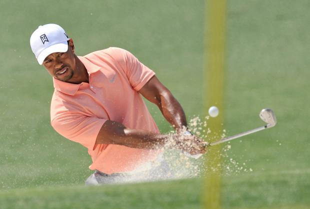 Tiger Woods during a practice round for the 2013 The Masters golf tournament at Augusta National Golf Club this year. Photo: Jack Gruber-USA TODAY Sports