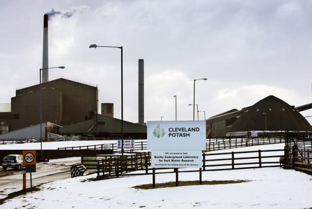 NOT GOING DOWN: Cleveland Potash mine, which has plans to expand and create jobs