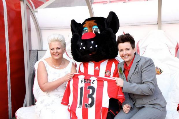 The Northern Echo: OUR PERFECT DAY: Sarah Price and Heather Thompson tie the knot at Sunderland FC's Stadium of Light