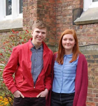 YOUNG LEADERS: Tom Johnston and Daisy Catterall, president and vice president of QE Sixth Form College students association