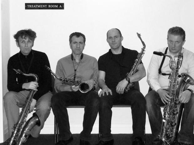The Saxophonics who will play at St Cuthbert's Centre tomorrow night