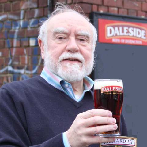 NEW BEER: Daleside Brewery managing director Eric Lucas with new King of the Dales Plantagenet Ale