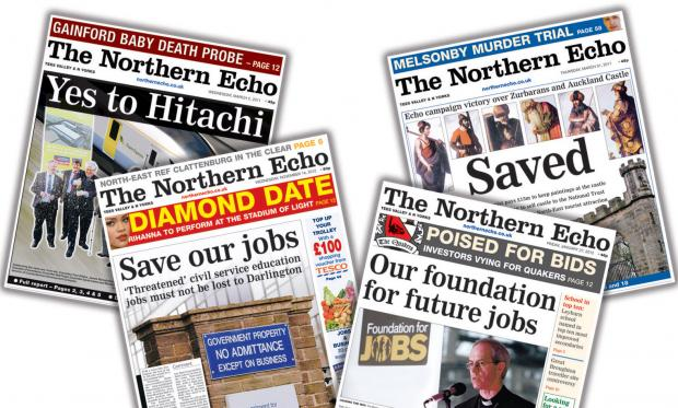 LOCAL CHAMPION: Some of the recent campaigns which The Northern Echo has fought on behalf of the North-East