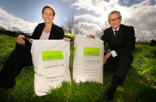 MORE INVESTMENT: Jane Siddle, from NEL Fund Managers, with Dr Robin Gibson, Limeco's managing director