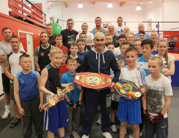 The Northern Echo: with Luke Thornton, 13, left, and