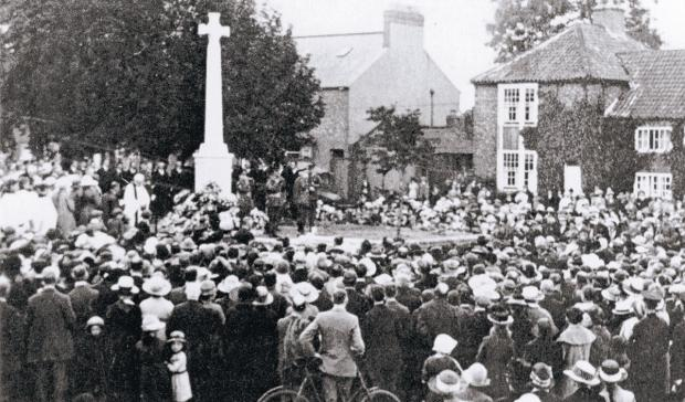HISTORIC EVENT: The unveiling of Northallerton War Memorial on August 6, 1921. It originally commemorated the 98 men from the town who had fallen in the First World War.