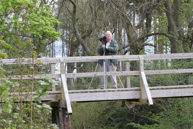 The Northern Echo: View from a bridge: Chris Brayshay at the reserve.