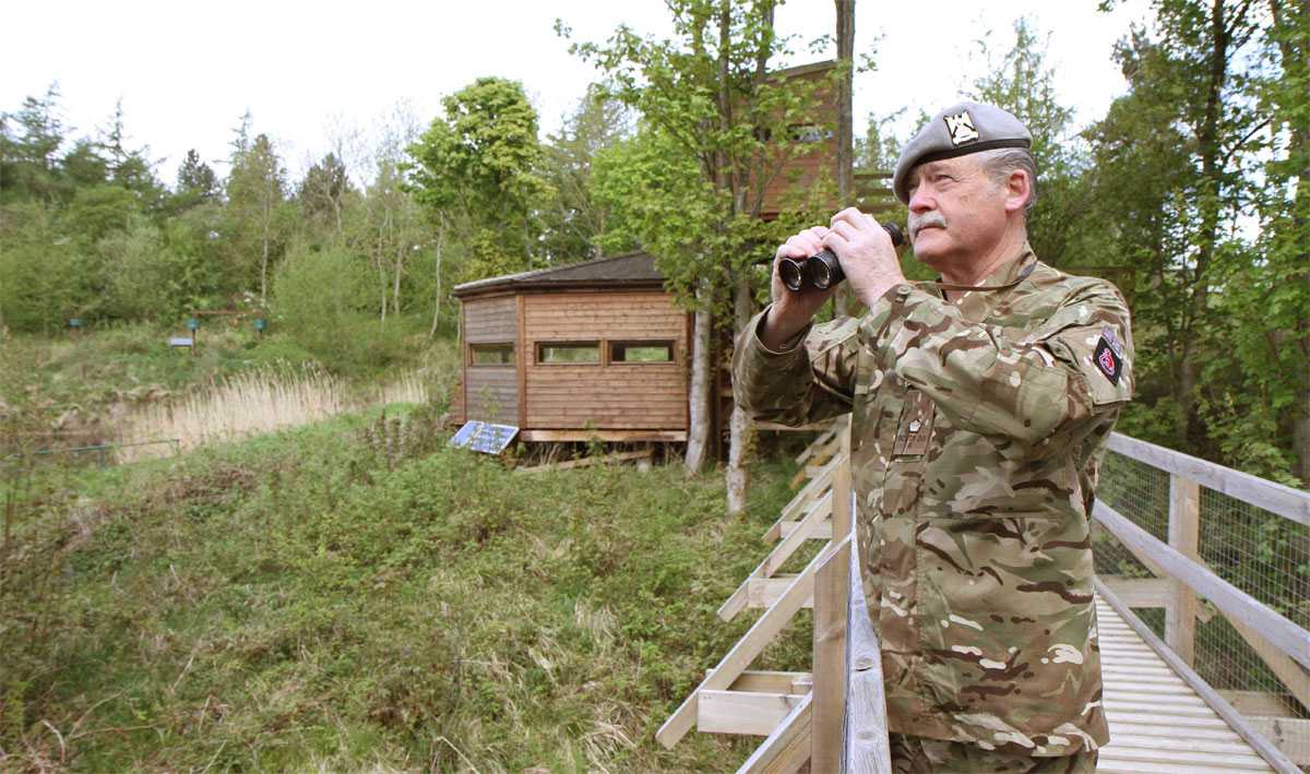 All in order: Major Tony Crease keeps an eye on Foxglove Covert, at Catterick Garrison.