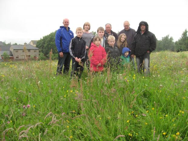 Residents in the unmown area which Durham County Council have called a wildflower meadow
