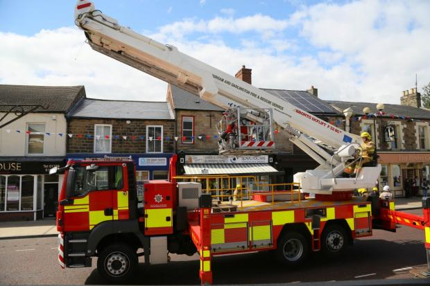 The Northern Echo: Fire crew at the scene. Pic: Keith Taylor