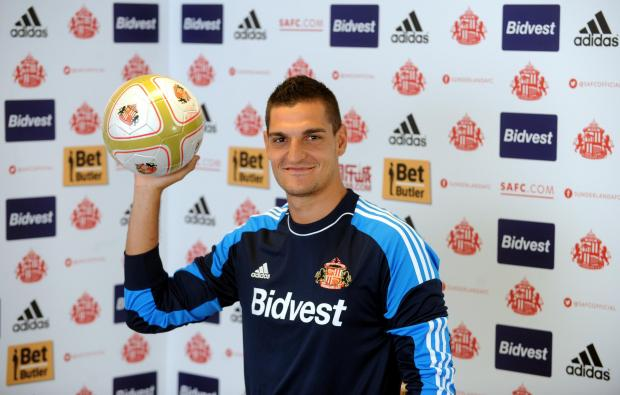 Enjoying Wearside: Vito Mannone is keen for his first Sunderland season to end with a place in the Premier League