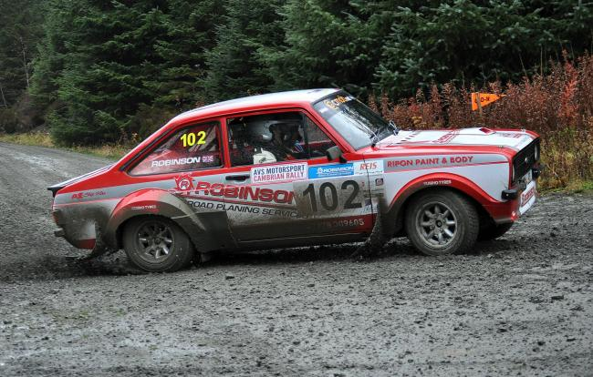RETIREMENT WOE: Ripon driver Matthew Robinson's bad luck continued in the RSAC Scottish Rally