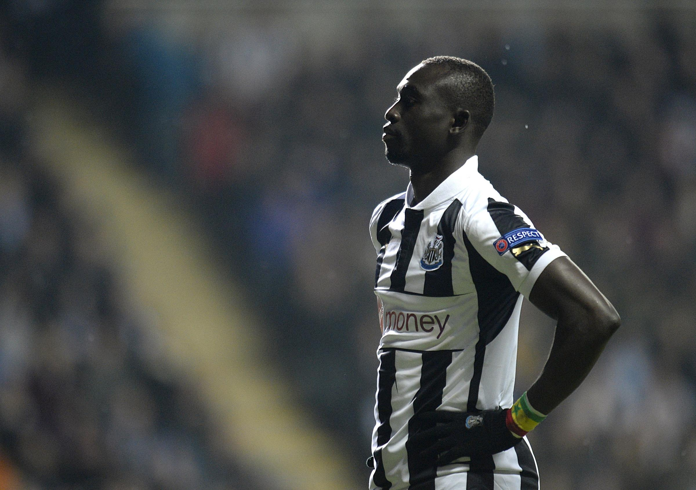 INJURY BLOW: Papiss Cisse suffered a broken kneecap in Newcastle's 2-1 defeat to Swansea at the weekend
