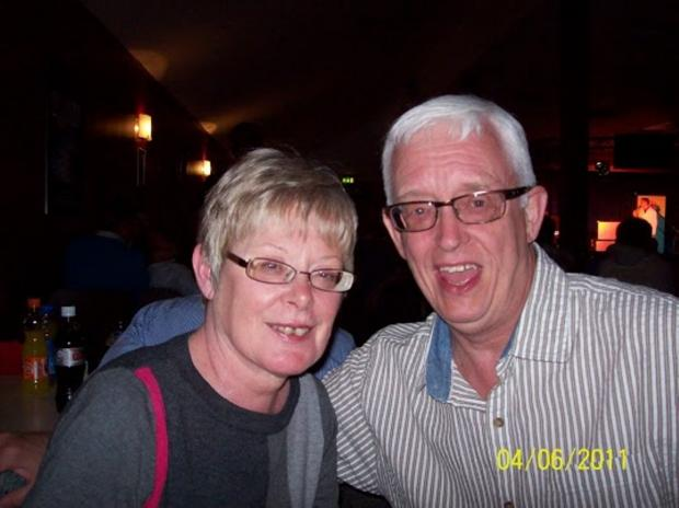 Happy times: Pat and John Blowes
