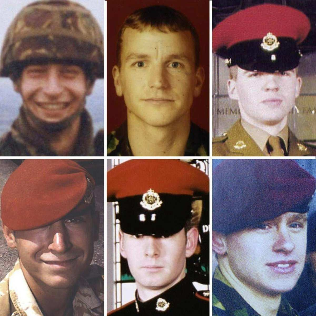 Sgt Simon Hamilton-Jewell, from Chessington; Cpl Russell Aston, from Swadlincote; Cpl Paul Long, from Colchester, Cpl Simon Miller, from Washington; L Cpl Ben Hyde, from Northallerton, and and L Cpl Thomas Keys, from Bala