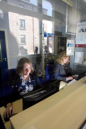 HERE TO HELP: Staff at Darlington Credit Union. Library image.