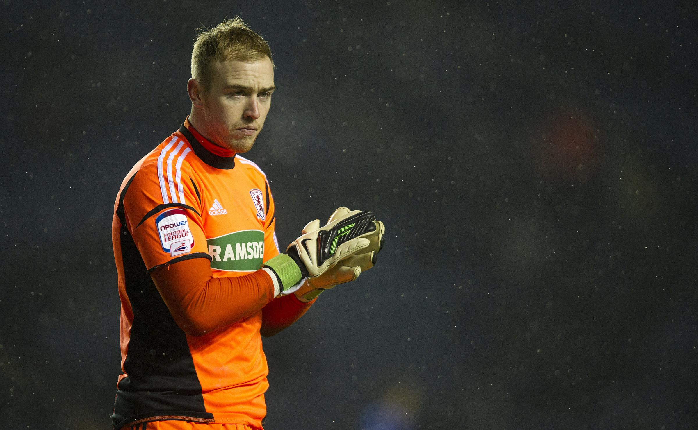 FIGHTING FIT: Jason Steele could return from injury this weekend