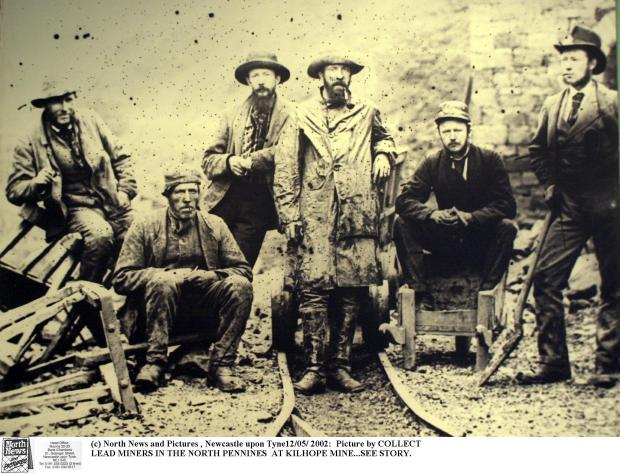Lead miners in the North Pennines at Killhope Lead Mine, in Weardale