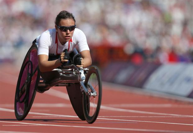 QUALIFIED: Jade Jones will compete in Thursday's Commonwealth Games 1,500m T54 final, after coming through qualifying this morning