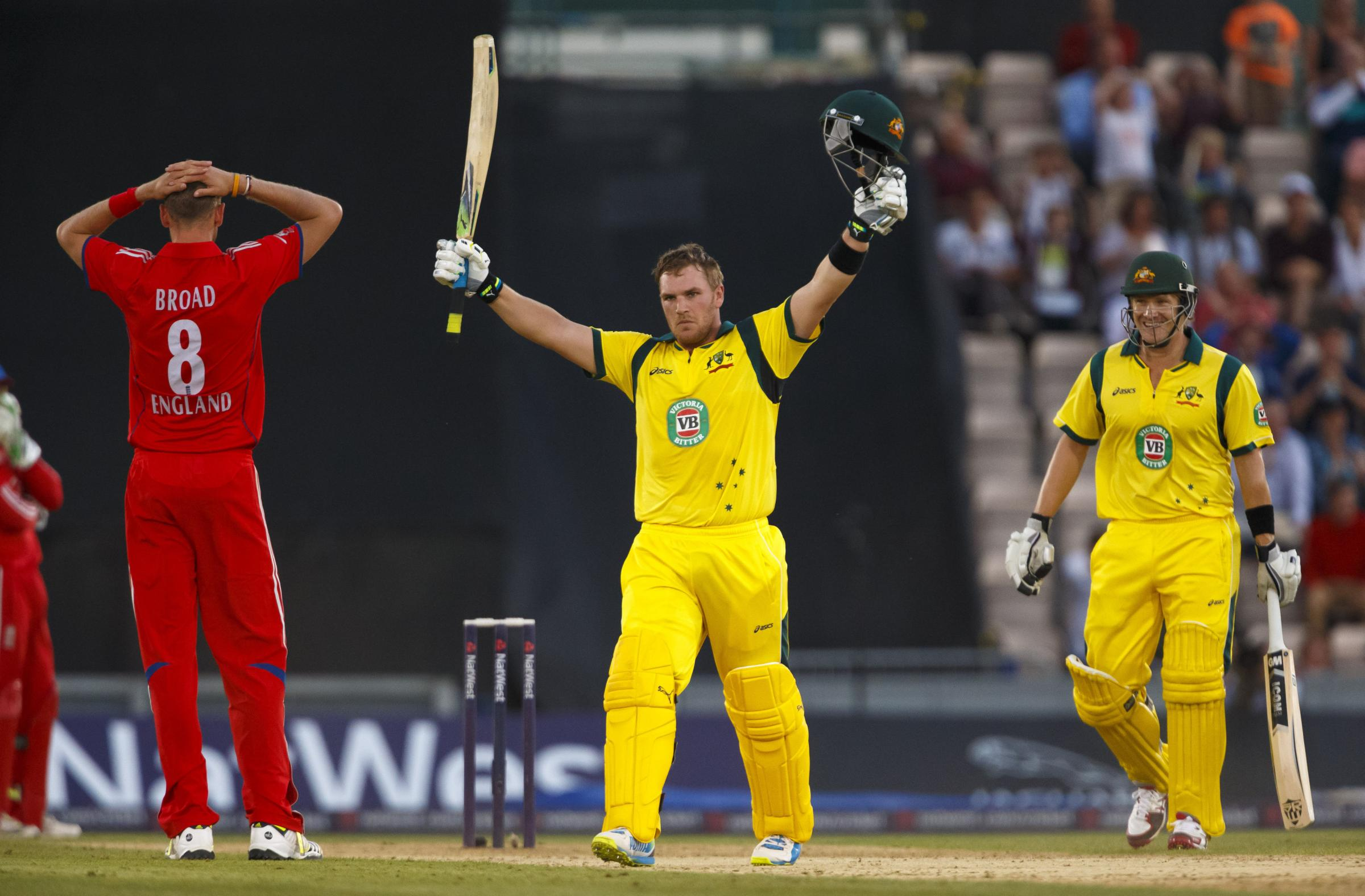 THIRD IN THE WORLD: Aaron Finch smashed 156 in a T20 game against England last year