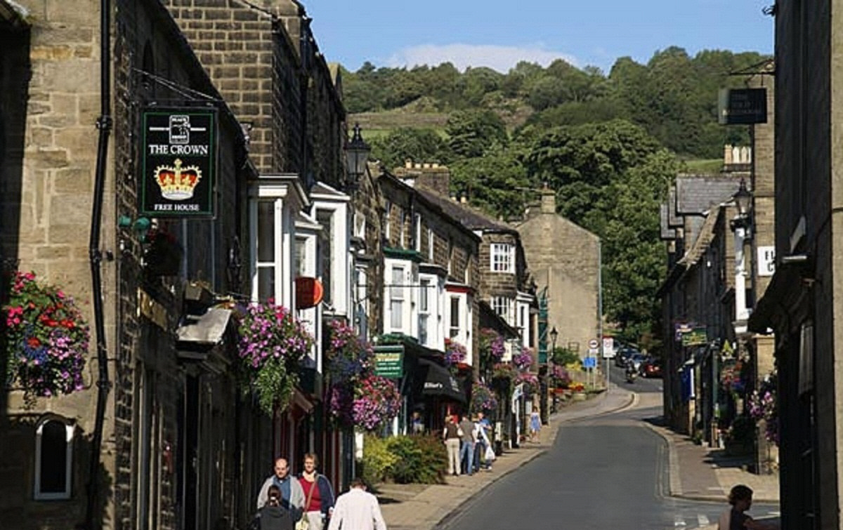 Cyclists had been heading towards Pateley Bridge