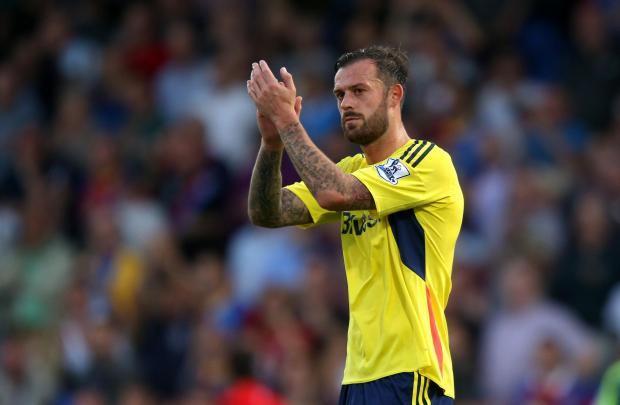 Back in action: Steven Fletcher has been training and could figure at Swansea on Saturday