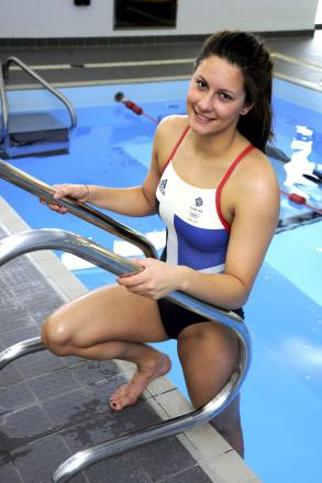 GOING FOR GOLD: Middlesbrough's Aimee Willmott competes in the 400m Individual Medley in the Commonwealth Games today