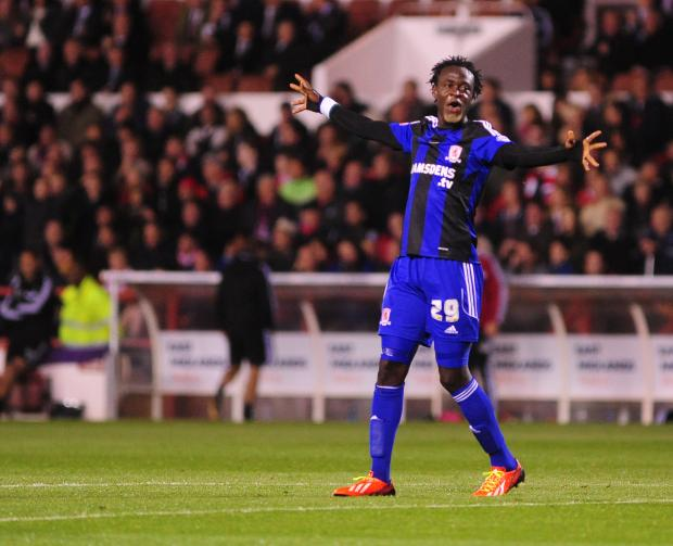 KEI TIME: Kamara scored on his debut for Middlesbrough