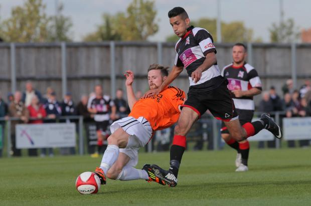 BACK OF THE NET: Amar Purewal scored Darlington's second goal on Saturday