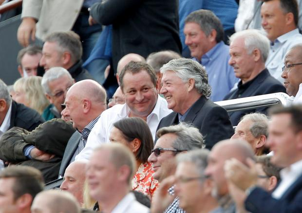 The Northern Echo: FACES IN THE CROWD: Mike Ashley and Joe Kinnear are all smiles at Saturday's game